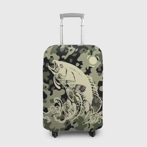 Чехол для чемодана 3D Рыбалка