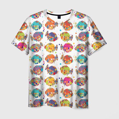 Мужская футболка 3D Рыбки
