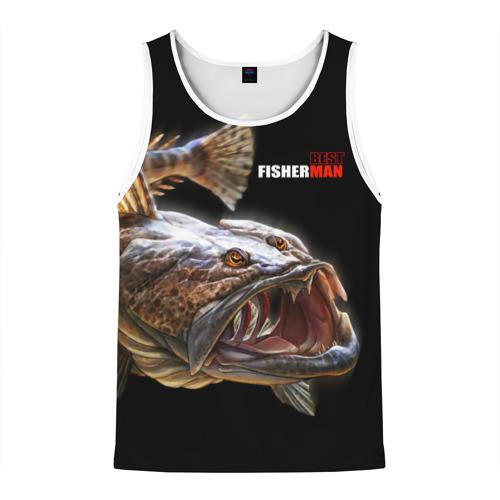 Мужская майка 3D Лучший рыбак