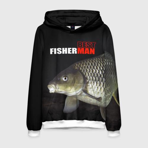 Мужская толстовка 3D Лучший рыбак