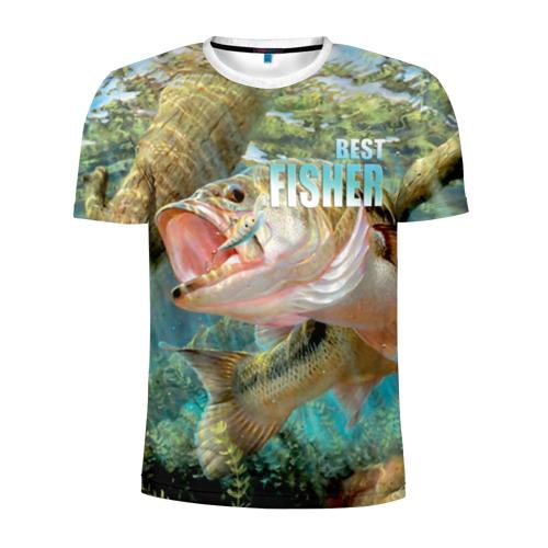 Мужская футболка 3D спортивная Лучший рыбак