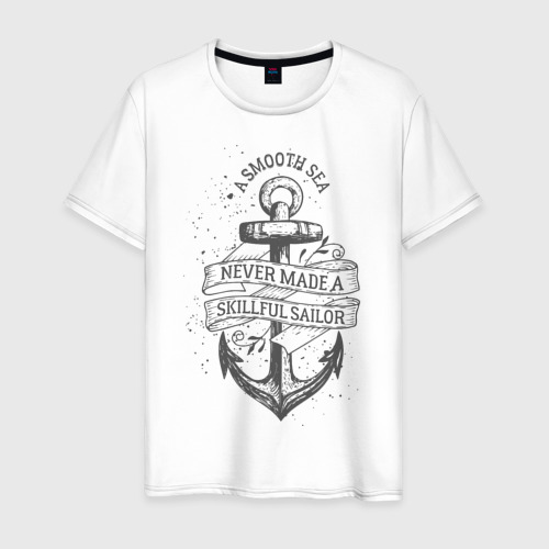 Мужская футболка хлопок Гладкое море