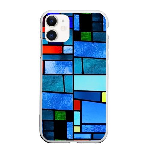 Чехол для iPhone 11 матовый Мозаичная абстракция