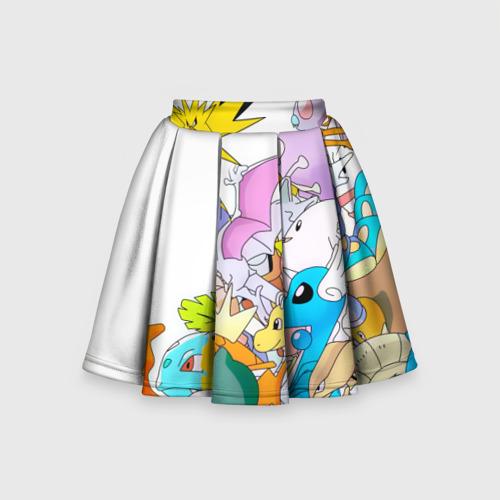Детская юбка-солнце 3D Покемоны