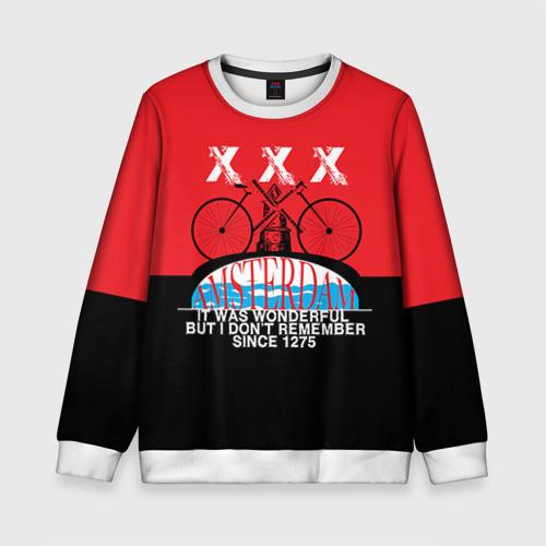 Детский свитшот 3D Amsterdam t-shirt