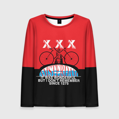 Женский лонгслив 3D Amsterdam t-shirt