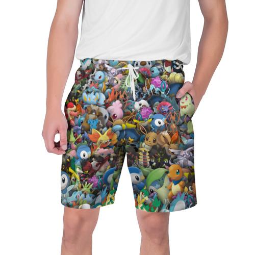 Мужские шорты 3D Покемоны. Стикербомбинг