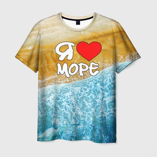 Мужская футболка 3D Я люблю море