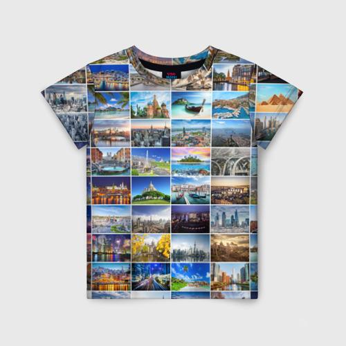 Детская футболка 3D Мир путешествий