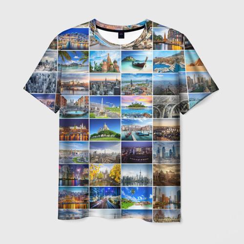 Мужская футболка 3D Мир путешествий