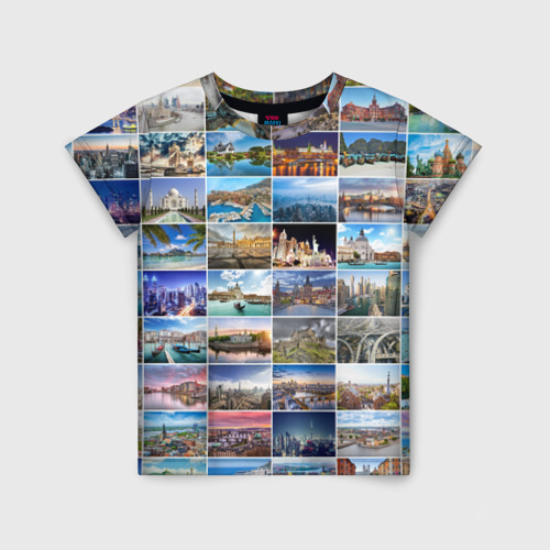Детская футболка 3D Страны мира
