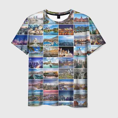 Мужская футболка 3D Страны мира