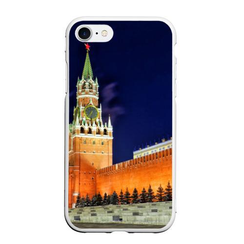 Чехол для iPhone 7/8 матовый Кремль