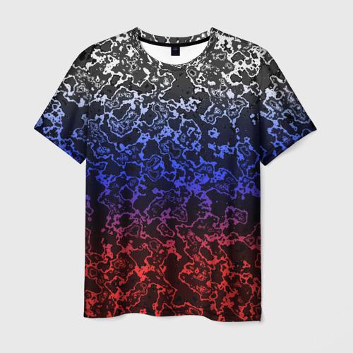 Мужская футболка 3D Кислотность Российский флаг