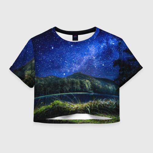 Женская футболка Crop-top 3D Дикая природа
