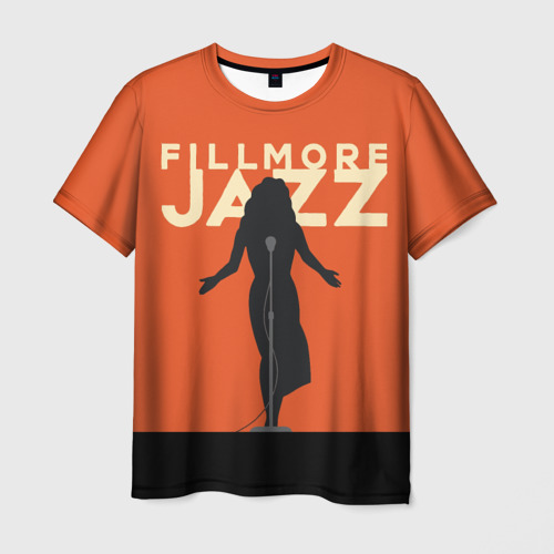 Мужская футболка 3D Филмор Джаз Фестиваль
