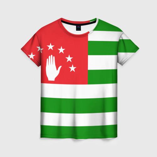 Женская футболка 3D Абхазия