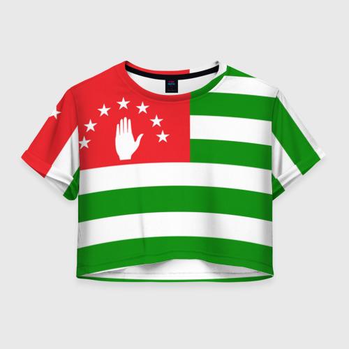 Женская футболка Crop-top 3D Абхазия
