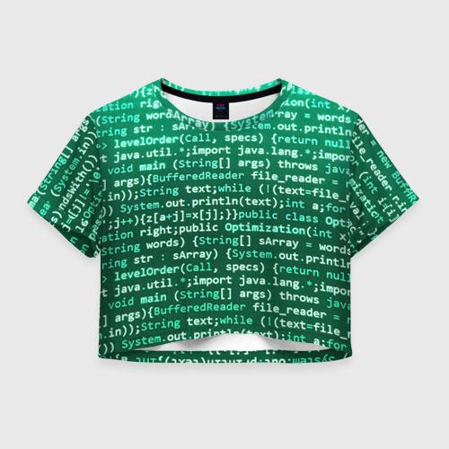 Женская футболка Crop-top 3D Программирование 8