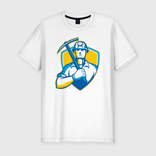 Мужская футболка хлопок Slim Я - Шахтёр