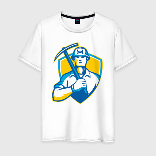 Мужская футболка хлопок Я - Шахтёр