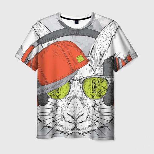 Мужская футболка 3D Стильный Кролик
