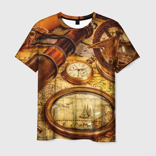 Мужская футболка 3D Путешественник