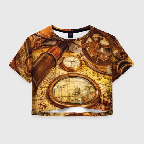 Женская футболка Crop-top 3D Путешественник