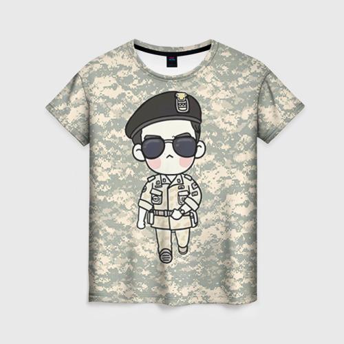 Женская футболка 3D SONG JOONG KI