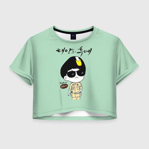 Женская футболка Crop-top 3D SONG JOONG KI