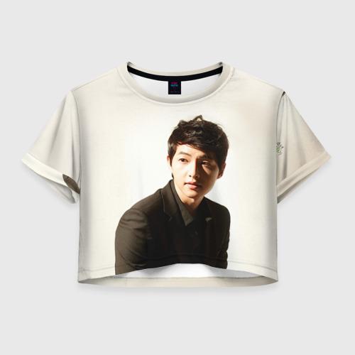 Женская футболка Crop-top 3D Сон Чжун Ки