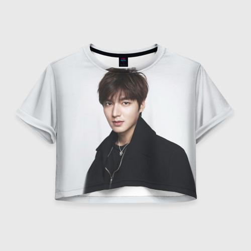 Женская футболка Crop-top 3D Lee Min Ho