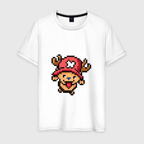 Мужская футболка хлопок One Piece. Chopper. 8 bit.