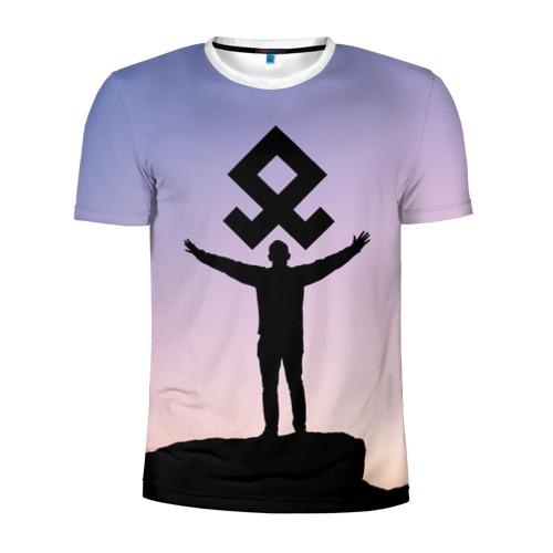 Мужская футболка 3D спортивная Знак Рода