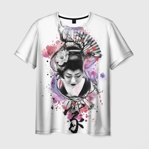 Мужская футболка 3D Символ Японий