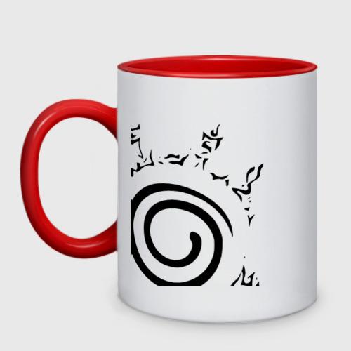 Кружка двухцветная Наруто - печать