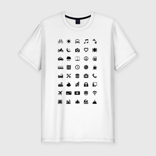 Мужская футболка хлопок Slim Iconspeak