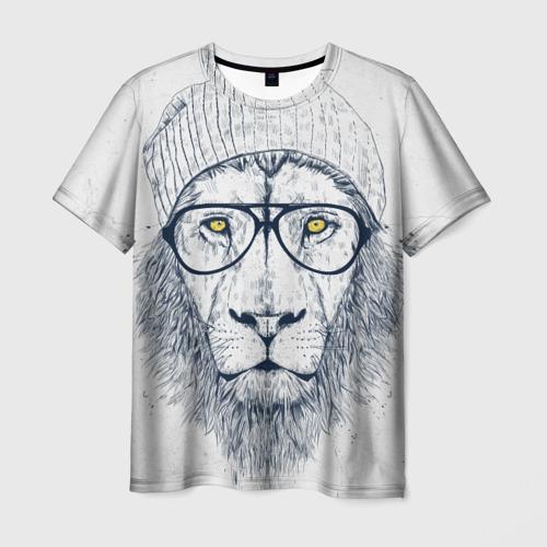 Мужская футболка 3D Cool Lion