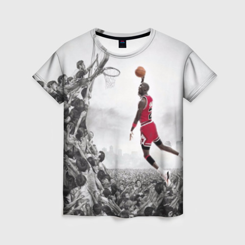 Женская футболка 3D Michael Jordan