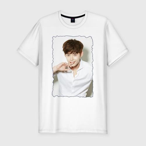 Мужская футболка хлопок Slim Ли Чон Сок