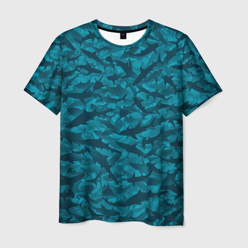 Мужская футболка 3D Акулы