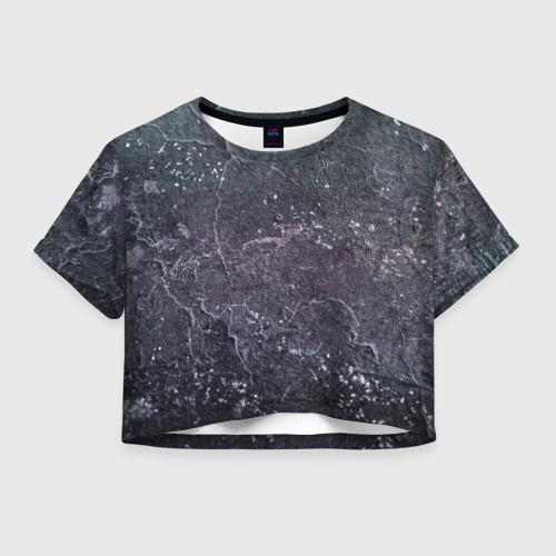 Женская футболка Crop-top 3D Грандж