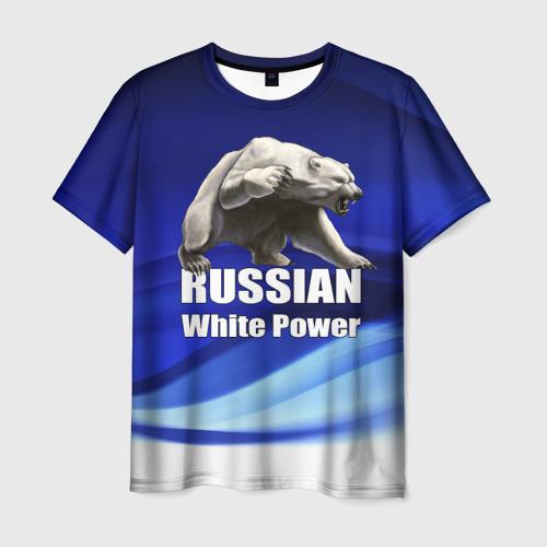 Мужская футболка 3D Russian white power