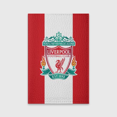 Обложка для паспорта матовая кожа Liverpool FC