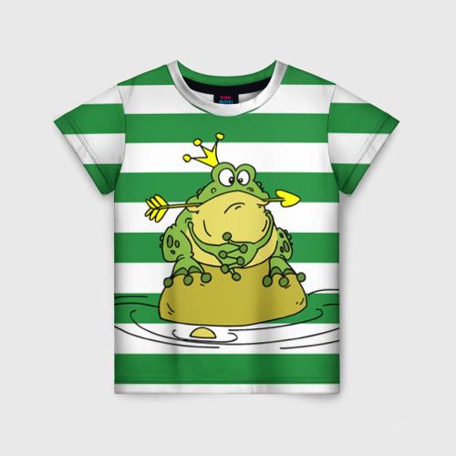 Детская футболка 3D Царевна лягушка