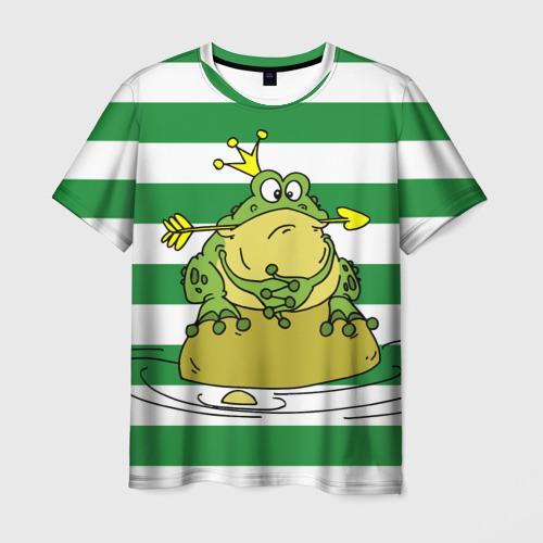 Мужская футболка 3D Царевна лягушка