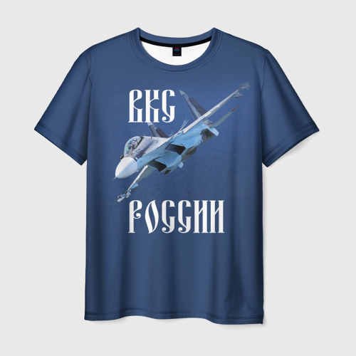 Мужская футболка 3D ВКС РОССИИ