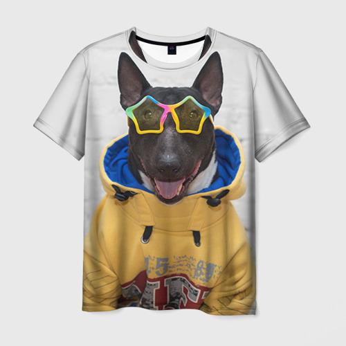 Мужская футболка 3D Bulldog's friend 6