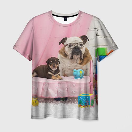 Мужская футболка 3D Bulldog 23