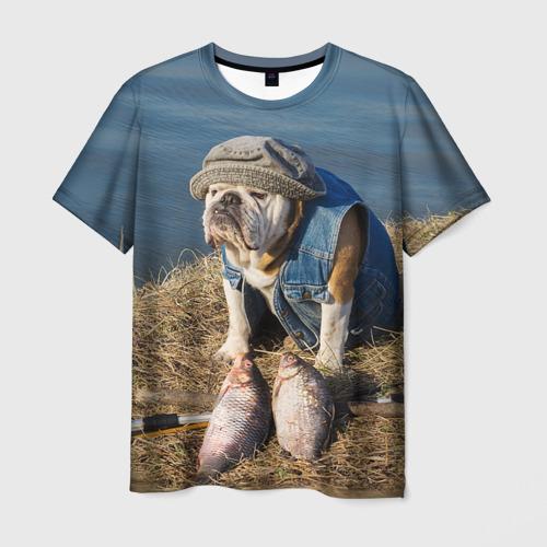 Мужская футболка 3D Bulldog 13